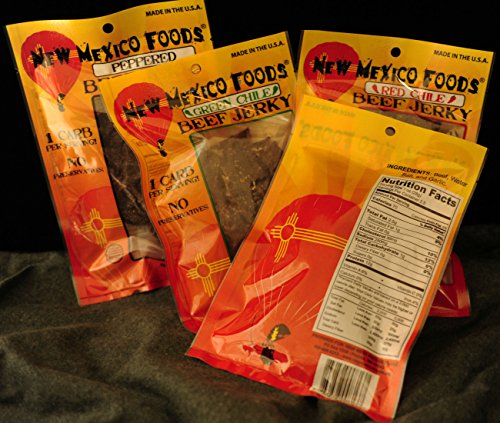 New-Mexico-Foods-Beef-Jerky-4-Pack-25-oz-Mixed-Package-Red-Chile-Green-Chile-Peppered-Original