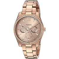 Fossil ES4315 Women's Scarlette Multifunction Bracelet Watch (Rose Gold)