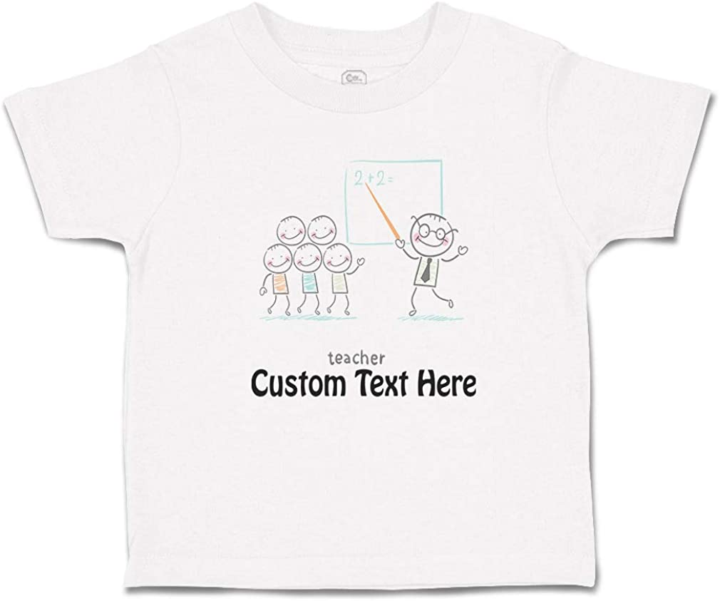 Custom Toddler T-Shirt Teacher Math Cotton Boy /& Girl Clothes Funny Graphic Tee