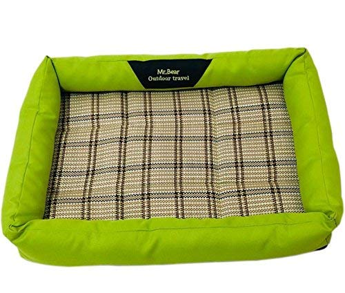 Kennel Pads Dog Beds Pet Bed Blankets Breathable Pet Cooler Cold Bed Pet Cooling Mat(Green,S) 40  30cm Cat Bed Pet Supplies Cover