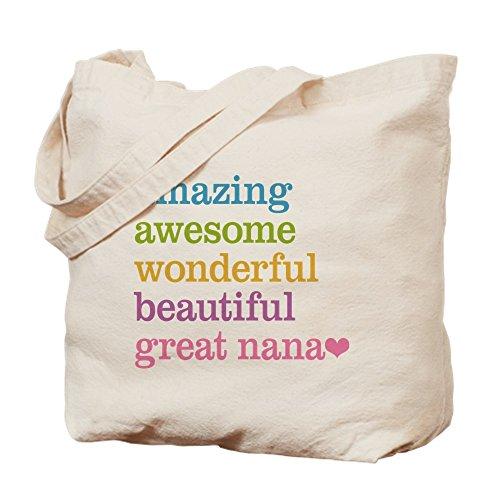 CafePress–gran Nana–Amazing Awesome–Gamuza de bolsa de lona bolsa, bolsa de la compra Small caqui