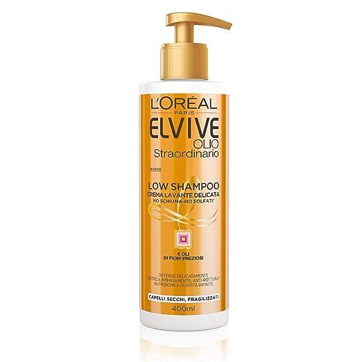 149 opinioni per L'Oréal Paris Elvive Low Shampoo Olio Straordinario, Shampoo Senza Schiuma e