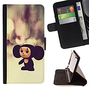 BullDog Case - FOR/LG OPTIMUS L90 / - / russian cartoon character toy big ears 3d /- Monedero de cuero de la PU Llevar cubierta de la caja con el ID Credit Card Slots Flip funda de cuer