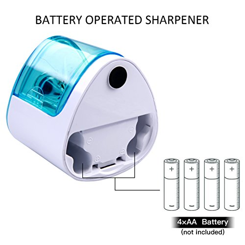 Electric Pencil Sharpener,Heavy duty Blades Durable and Portable Pencil Sharpener with Automatic Sharpens All Pencils for School Kids Children ,Blue Pencil Sharpener Electric Photo #7
