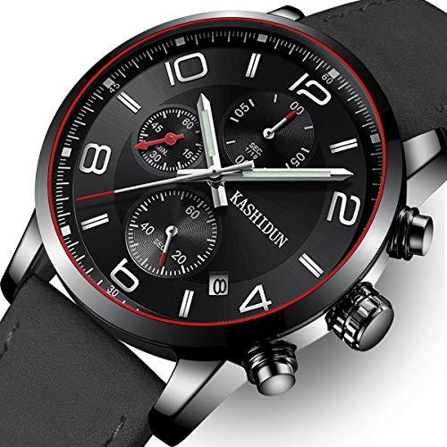 OLMECA Men's Watch Luxury Sports Military Wristwatches Chronograph Calendar Date Quartz Waterproof Watches for Women Relojes