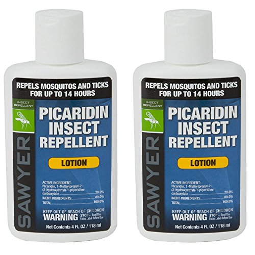 Sawyer Products SP5642 Premium Insect Repellent with 20% Picaridin, Lotion, Twin Pack, 4-Ounce (Best Mosquito Repellent For Camping)