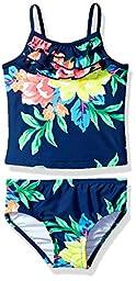 Carter\'s Toddler Girls\' Floral Tankini Swimsuit Set, Navy, 4T