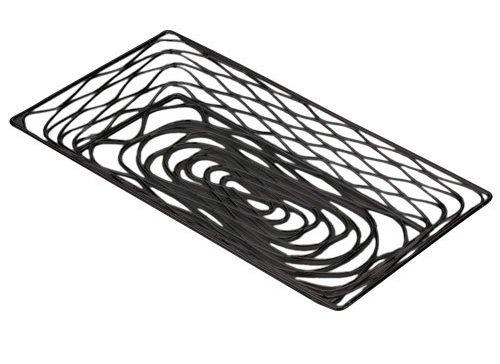 - American Metalcraft BNBB91 Rectangular Birdnest Wire Basket, Small, Black