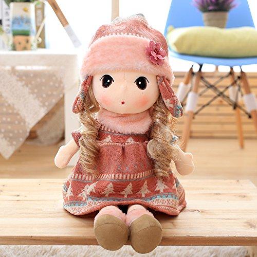 40cm pink Snow rhyme Little Girl Doll Cute plush toys for girls A birthday present Stuffed toys Soft cuddly toys baby doll