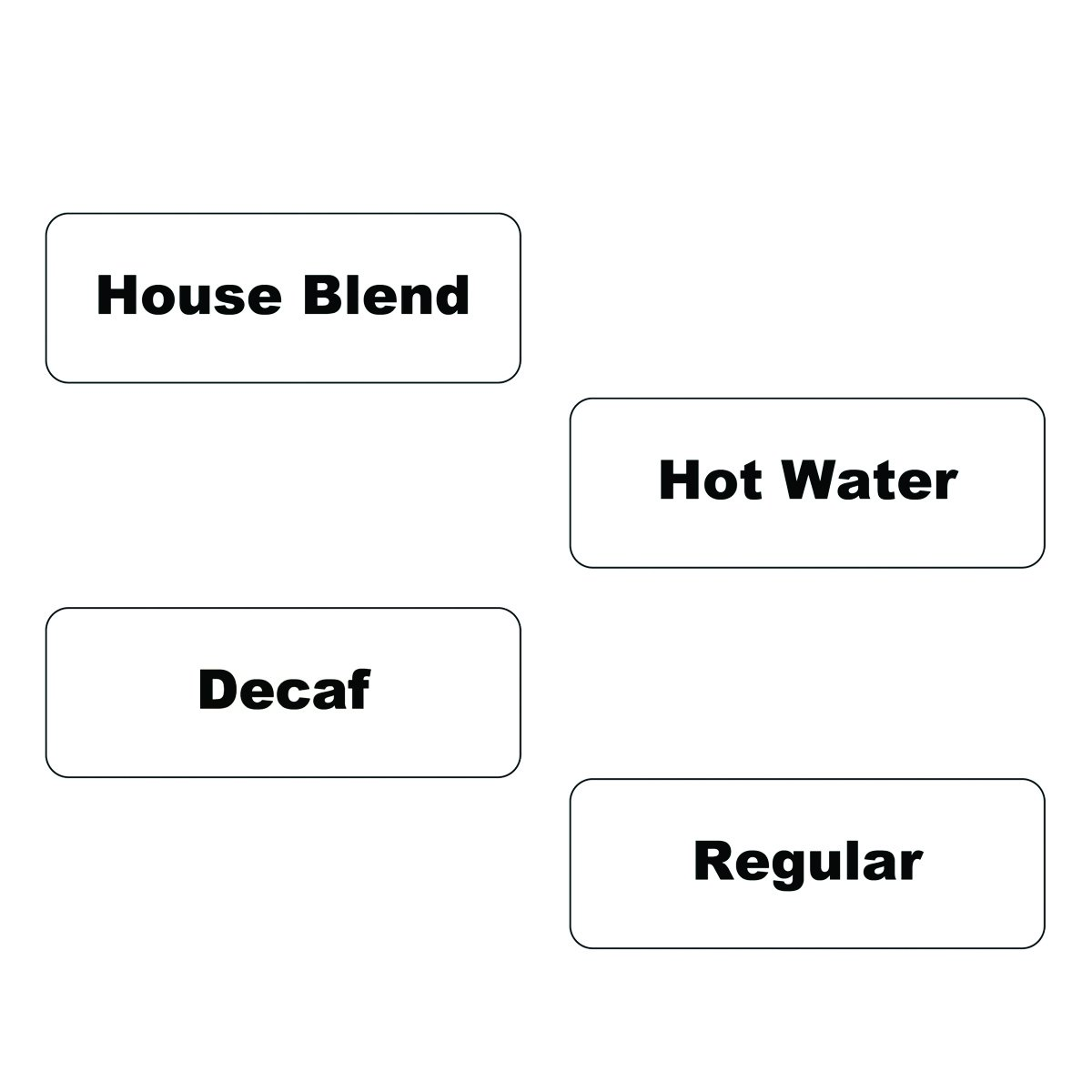 Service Ideas SC1HBCL Static Label, Hot Pack, Clear