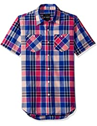 Akademiks Men's Short Sleeve Button Down