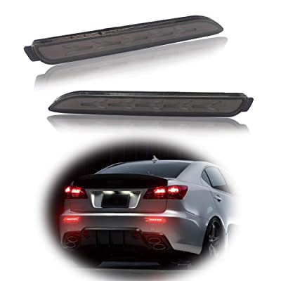 GTINTHEBOX 3D Optic Fish Bone Style Smoked Lens LED Rear Bumper Reflectors Brake Tail Lights Lamps For Lexus RC250 RC350 IS-F GX470 Toyota REIZ Sienna Matrix Venza Avalon: Automotive