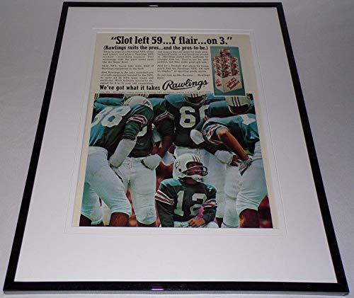 (1974 Rawlings Silver Bullet Football 11x14 Framed ORIGINAL Advertisement)