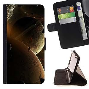 Jordan Colourful Shop - Space Planet Galaxy Stars 77 For Apple Iphone 4 / 4S - < Leather Case Absorci????n cubierta de la caja de alto impacto > -