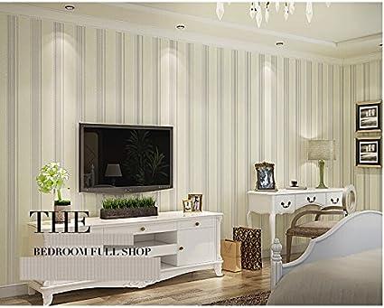 Striped Woven Wallpaper Modern Minimalist Living Room ...