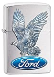 Personalized Message Engraved Customized Gift For Him For Her Ford Zippo Lighter Indoor Outdoor Windproof Lighter (Ford Eagle)