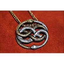Neverending Story Inspired Two-Tone Auryn Pendant - Atreyu's Gold and Silver Necklace