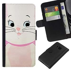 A-type (Kitten Cat Drawing Kids Children'S) Colorida Impresión Funda Cuero Monedero Caja Bolsa Cubierta Caja Piel Card Slots Para HTC One M9
