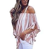 Women's Cold Shoulder Striped Spaghetti Strap Shirt