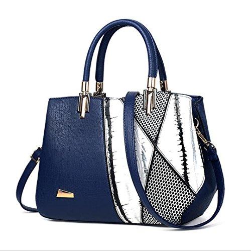bandoulière Blue Sacs femme mode de femme cuir Sacs à à serpentine luxe de Design main en célèbre aqgxx5nw