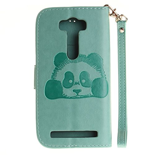 SRY-Funda ASUS Zenfone 2 Laser ZE500KL Funda, Panda Cute Embossing Design Funda de cuero sintética PU en color sólido para ASUS Zenfone 2 Laser ZE500KL (5.0 Inch) Protege tu teléfono ( Color : 9 ) 6