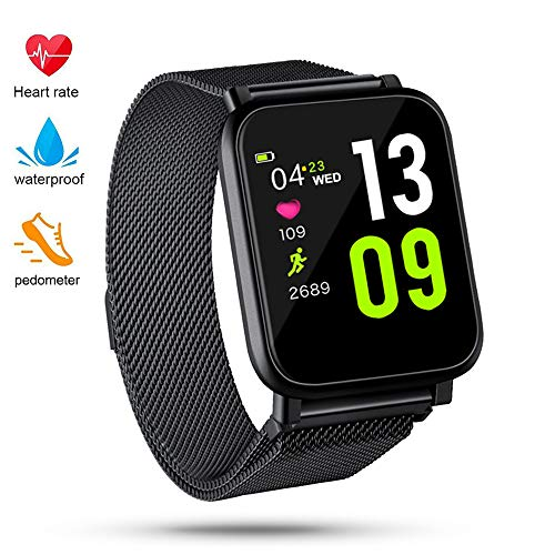 (QiyuanLS Fitness Tracker, Activity Tracker Watch with Heart Rate Monitor, Waterproof Smart Fitness Band with Step Calorie Counter, Pedometer Watch for Kids Women and Men)