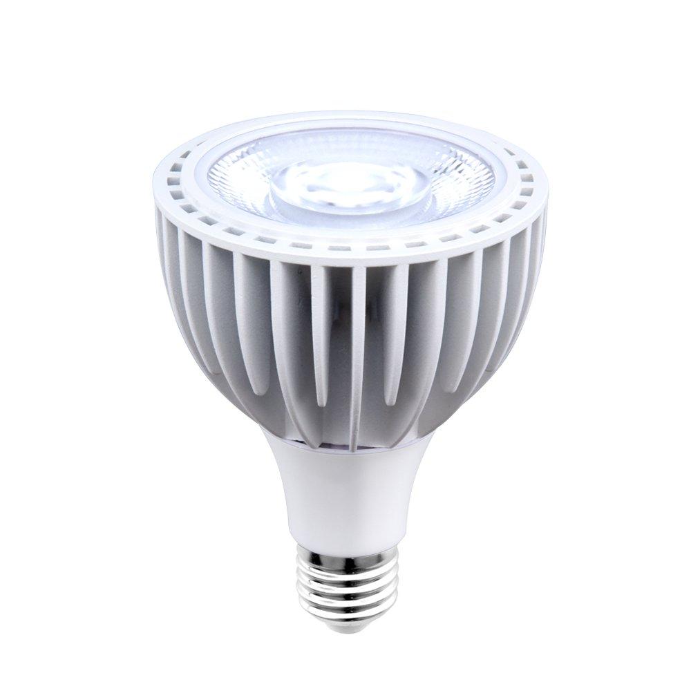 Aluxcia 40W Par30 LED Long Neck Flood Light Bulb, Medium Screw Base E26 Swimming Pool Light 300-500W Traditional Bulb Replacement Spot Light, Netural White 4000K, 1-Pack