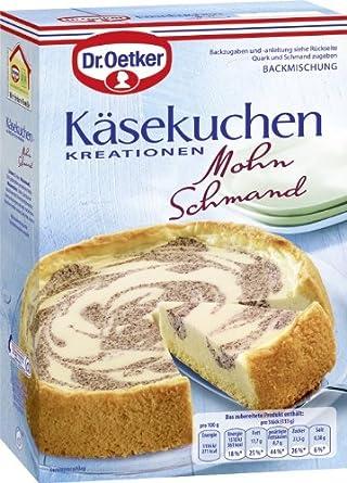 Dr Oetker Kasekuchen Kreationen Mohn Schmand 6er Pack 6 X 530 G