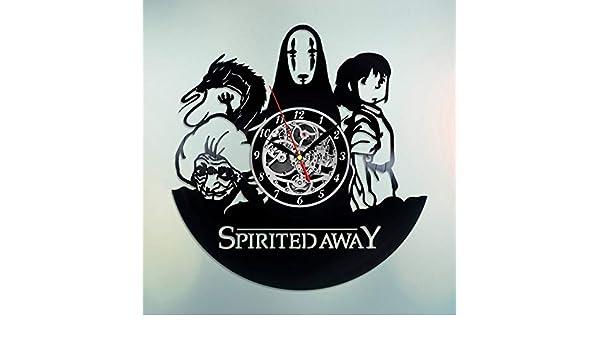 Spirited Away Art Haku Clock Yubaba Art Xmas Gift Spirited Away Wall Clock Animated Cartoon Art Spirited Away Vinyl Record Wall Clock Clocks