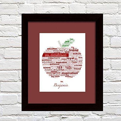 Custom Teacher Gift Personalized – Apple