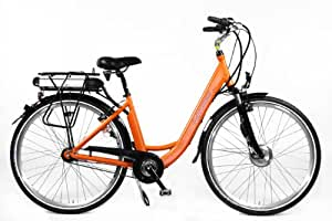 "MIFA MEC800-2802 - Bicicleta eléctrica ( 11 Ah, 7 velocidades, 28 "" ), color azul, talla 28"""