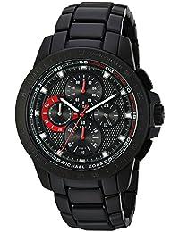Michael Kors Men's 43mm Black Steel Bracelet & Case Quartz Analog Watch MK8529