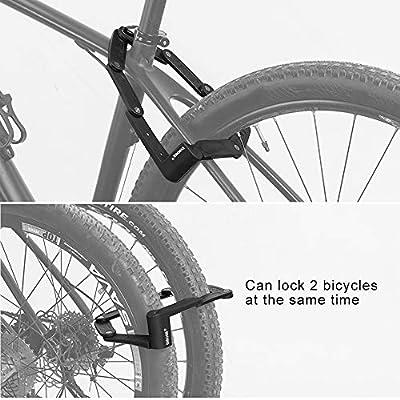 DINOKA Candado Bici Plegable, Cerradura de Bicicleta portátil de ...