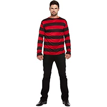 Striped Jumper Red Black One Size  Amazon.co.uk  Toys   Games 515fef51a