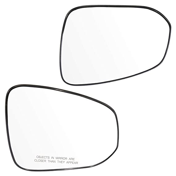 SCITOO Replacement Mirror Glass Passenger Side Fit Compatible with 2013 2014 2015 2016 2017 2018 Toyota RAV4 Non-Heated Chrome