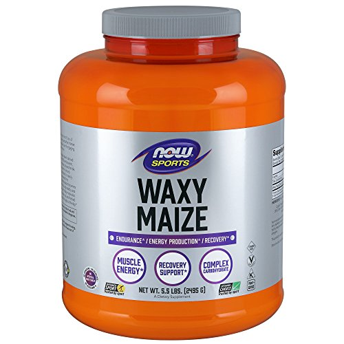 NOW Sports Waxy Maize Powder, - Supplement Glycogen