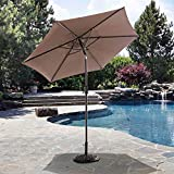 Cheap Sunjoy Delilah Market Umbrella, 9′