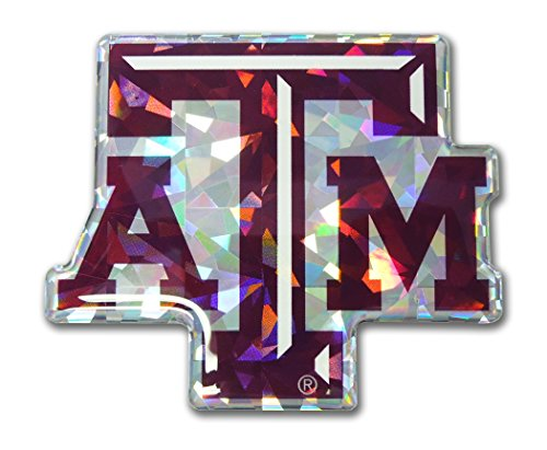 Elektroplate Texas A&M ATM Aggies Red NCAA Reflective 3D Decal Domed Auto Sticker Emblem