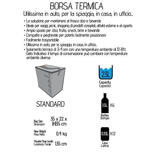 Borsa Termica 35x22x35cm standard grigia