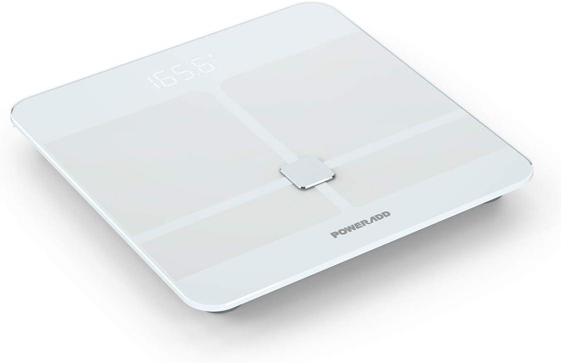 POWERADD Báscula Digital con Bluetooth 4.0 y Báscula de Baño con ...