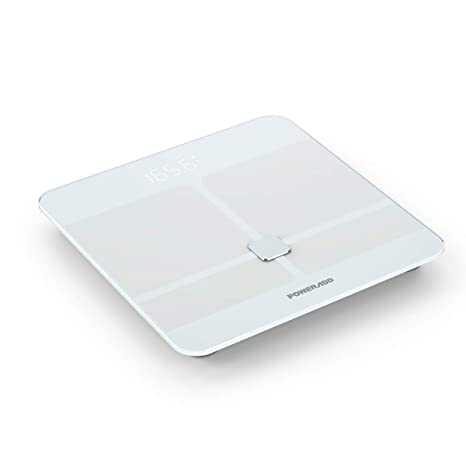 POWERADD Báscula Digital con Bluetooth 4.0 y la tecnología avanzada BIA con Color Blanco
