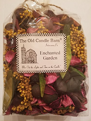Old Candle Barn Enchanted Garden Potpourri Large Bag - Perfect for Spring and Summer But Can Be Used All Year Long - Decoration or Bowl Filler