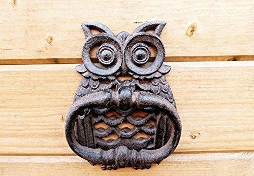 Owl Door Knocker (hand Painted), Bird Door Knocker, Owl, Cast Iron