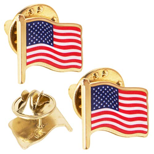 Kangaroo USA American Flag Lapel Pin 3/4