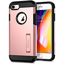 Spigen Tough Armor [2nd Generation] iPhone 8 Case / iPhone 7 Case with Kickstand and Heavy Duty Protection and Air Cushion Technology for Apple iPhone 8 (2017) / iPhone 7 (2016) - Rose Gold