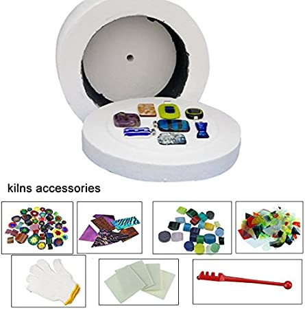COE 90 de fusión de vidrio Con Kit grande de microondas horno de ...