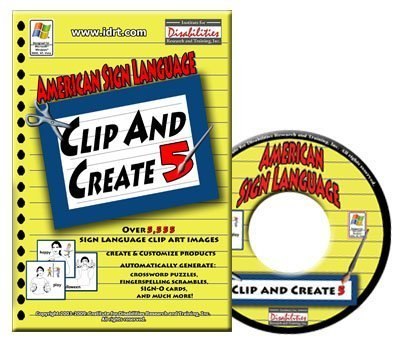 American Sign Language Clip and Create 5 - ASL Clip Art CD-ROM (Windows)
