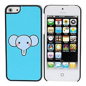 Super Cute Cartoon Elephant Blue Hard Back Case Cover For iPhone 5
