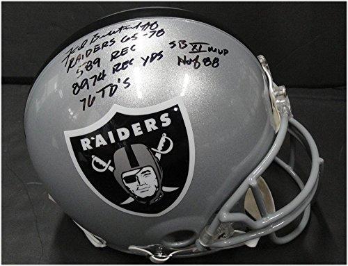 Fred Biletnikoff Signed Autograph Auto Oakland Raiders Fs Helmet Hof 88 Stats JSA Certified 336103 - Oakland Raiders Oak Helmet