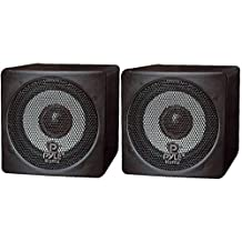 Pyle-Home Pcb3bk 3-Inch 100-Watt Mini Cube Bookshelf Speakers (Black)